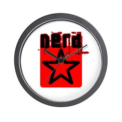 Nerd Star T Wall Clock