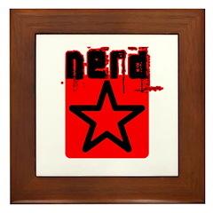 Nerd Star T Framed Tile