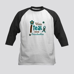 I Wear Teal For My Grandmother 12 Kids Baseball Je