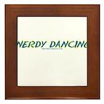 Nerdy Dancing Framed Tile