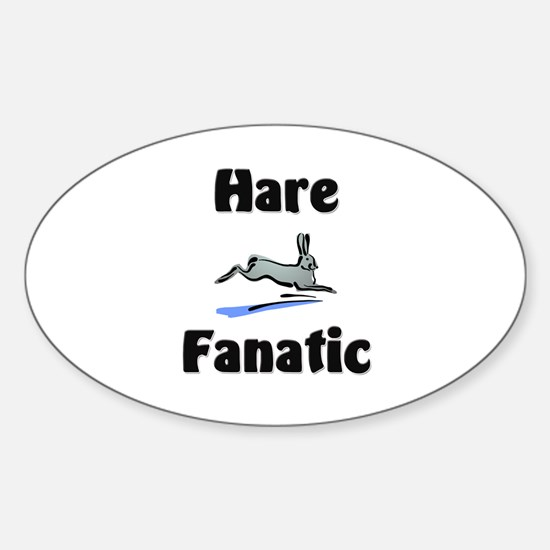 Hare Fanatic Oval Decal