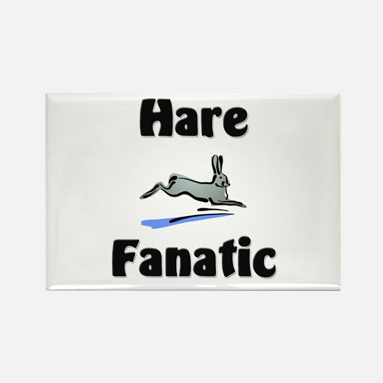 Hare Fanatic Rectangle Magnet