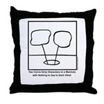 Two Comic-Strip Characters in a Manhole pillow