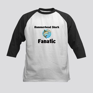 Hammerhead Shark Fanatic Kids Baseball Jersey