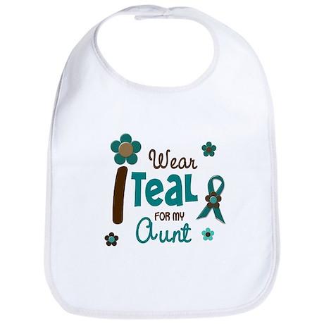 I Wear Teal For My Aunt 12 Bib