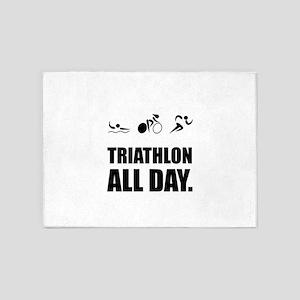 Triathlon All Day 5'x7'Area Rug