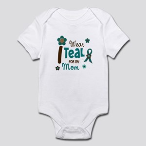 I Wear Teal For My Mom 12 Infant Bodysuit