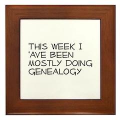 Mostly Genealogy Framed Tile