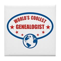 Worlds Coolest Genealogist Tile Coaster
