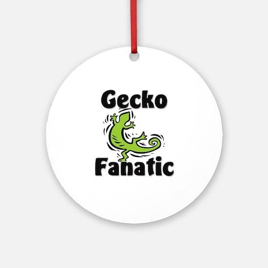 Gecko Fanatic Ornament (Round)