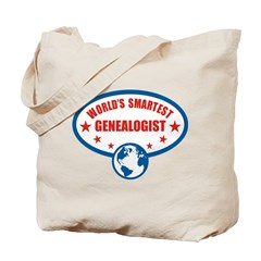 Worlds Smartest Genealogist Tote Bag