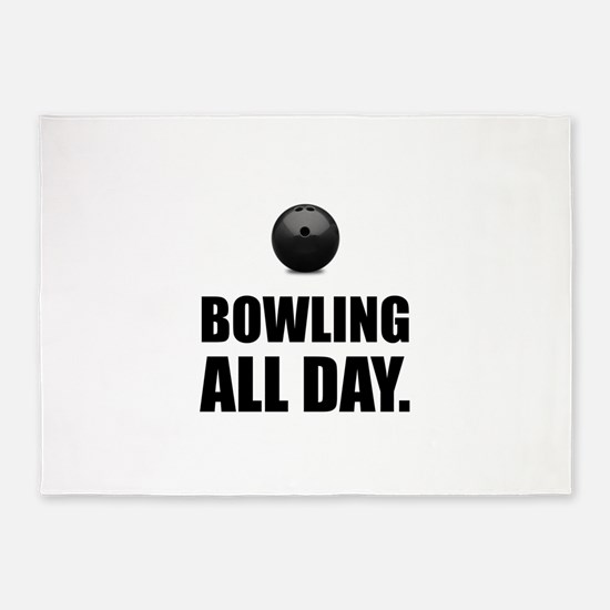 Bowling All Day 5'x7'Area Rug