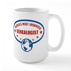 Worlds Most Organized Genealogist Large Mug
