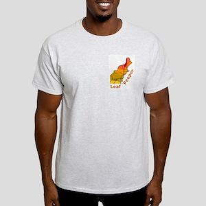 Leaf Peeper Map (fall foliage) Ash Grey T-Shirt