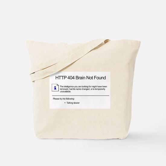 Geek 404 Error Tote Bag