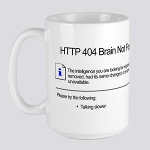 Geek 404 Error Large Mug