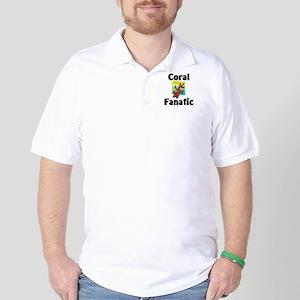 Coral Fanatic Golf Shirt