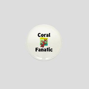 Coral Fanatic Mini Button