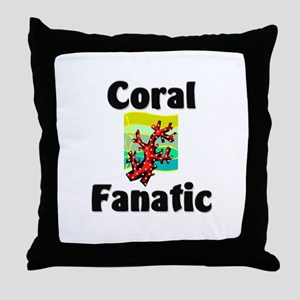 Coral Fanatic Throw Pillow