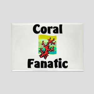 Coral Fanatic Rectangle Magnet