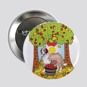 "Fall Saint Bernard 2.25"" Button"