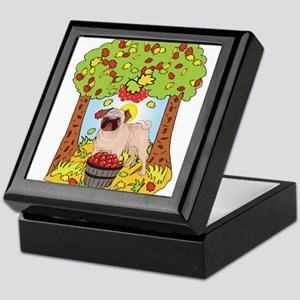 Fall Pug Keepsake Box