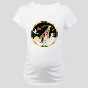 Night Flight/Beagle Maternity T-Shirt