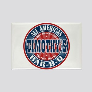 Timothy's All American BBQ Rectangle Magnet