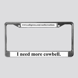 Cowbell License Plate Frame