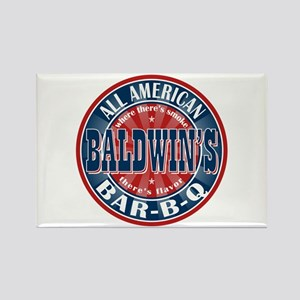 Baldwin's All American BBQ Rectangle Magnet