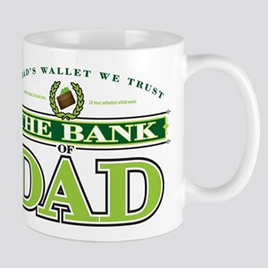 The Bank of Dad Stainless Steel Travel Mugs