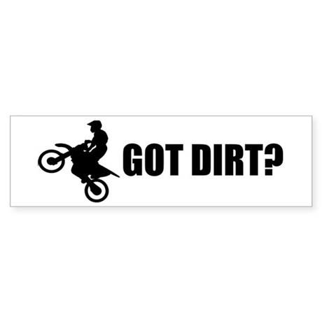 Got Dirt Bike Design Sticker (Bumper)