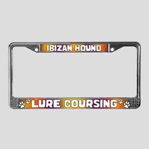 Lure Coursing Ibizan Hound License Plate Frame