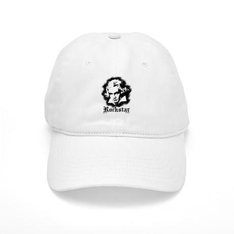 Beethoven Rockstar Baseball Cap by dweebetees 294c2da15831