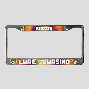 Lure Coursing Borzoi License Plate Frame