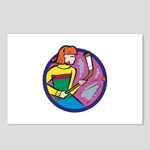 Hockey Girl Postcards (Package of 8)