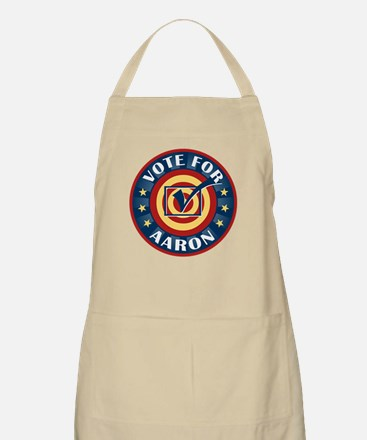Vote for Aaron Personalized BBQ Apron