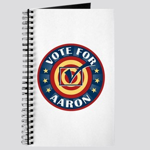 Vote for Aaron Personalized Journal