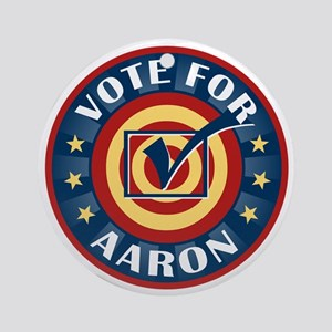 Vote for Aaron Personalized Ornament (Round)