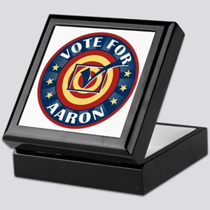 Vote for Aaron Personalized Keepsake Box