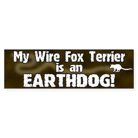 Wire Fox Terrier Earthdog Bumper Sticker