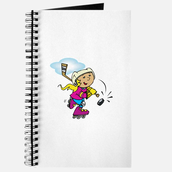 Cute Hockey Girl Journal