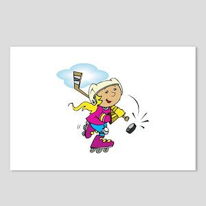 Cute Hockey Girl Postcards (Package of 8)