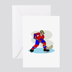 Hardcore Hockey Girl Greeting Card