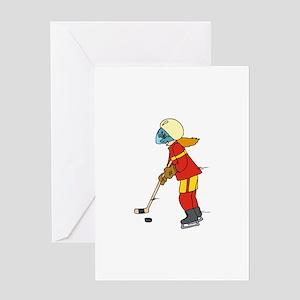 Girl Ice Hockey Player Greeting Card