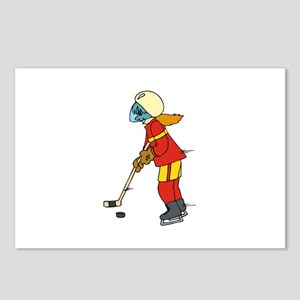 Girl Ice Hockey Player Postcards (Package of 8)