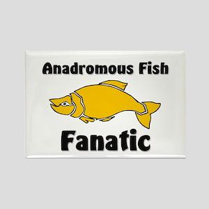 Anadromous Fish Fanatic Rectangle Magnet