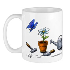 Flowers and Butterfly Mug