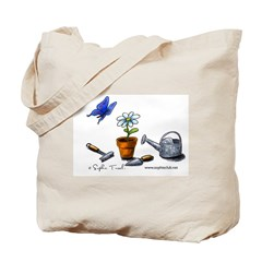 Flower and Butterfly Tote Bag