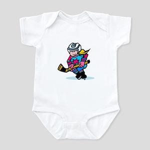 Blonde Hockey Girl Infant Bodysuit